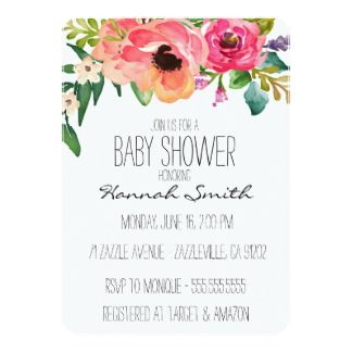 Unique boho floral baby shower invitation baby shower pinterest unique boho floral baby shower invitation filmwisefo Choice Image