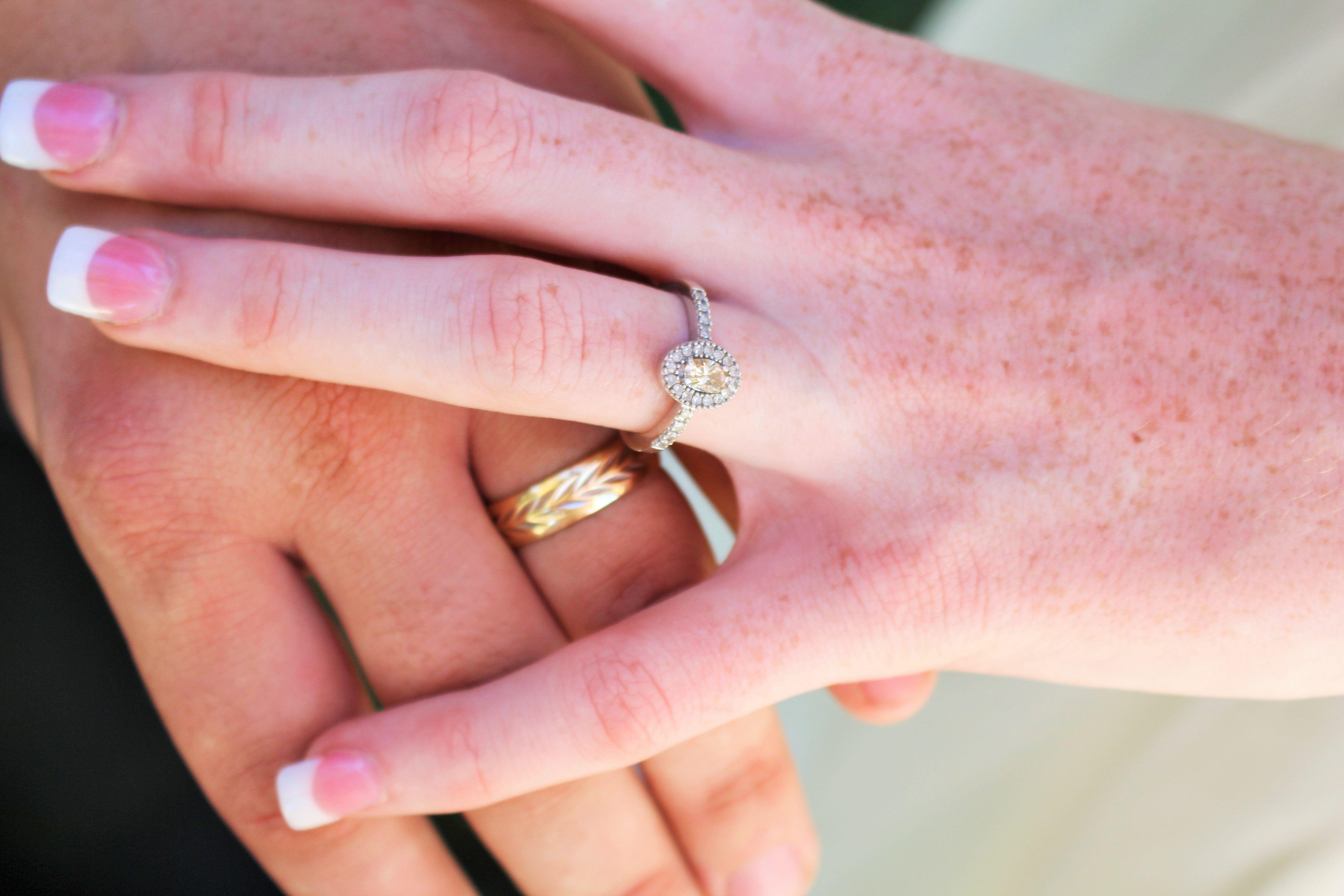 Yep, loving my ring. #rings #oval #wedding #photography #bride ...