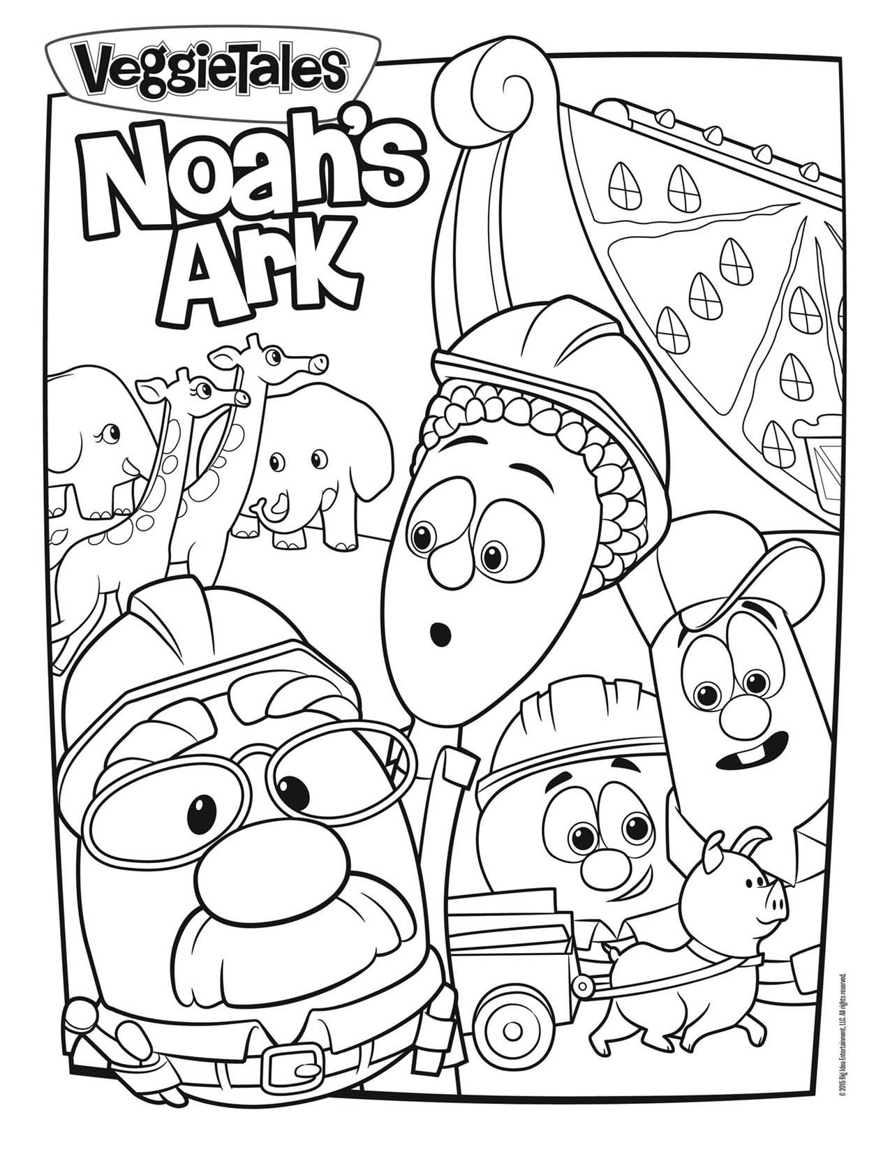 Noah39s Ark Coloring Page Bible crafts for kids Veggie