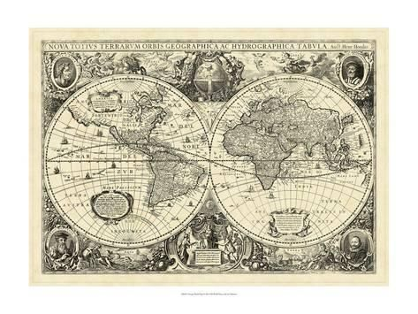 Vintage world map prints allposters maps posters pinterest vintage world map prints allposters gumiabroncs Images