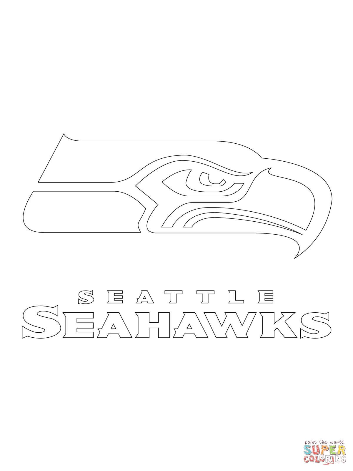 seattle seahawks logo super coloring