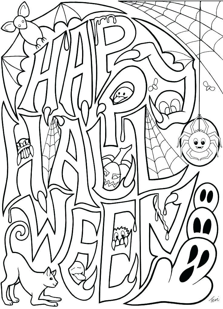 Halloween Coloring Pages Pdf Halloween Para Colorear Actividades De Halloween Tarjetas De Halloween