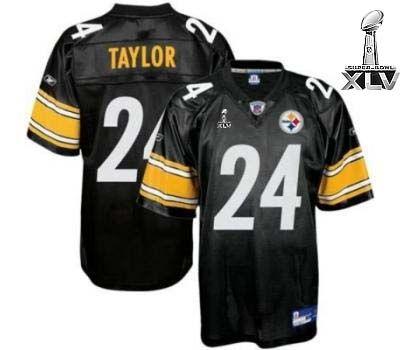 Reebok Pittsburgh Steelers Ike Taylor 24 Authentic Black Jerseys Sale 6d88063df