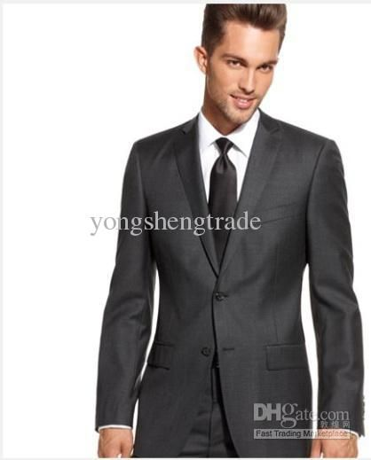 single button suit men dark grey - Google Search | Suits ...