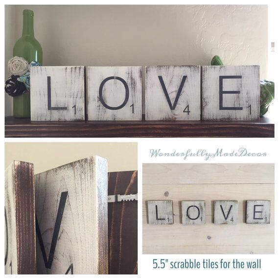 Wall Tiles Decor Prepossessing Large Scrabble Tiles For The Wall Home Decor Scrabble Rustic Design Decoration