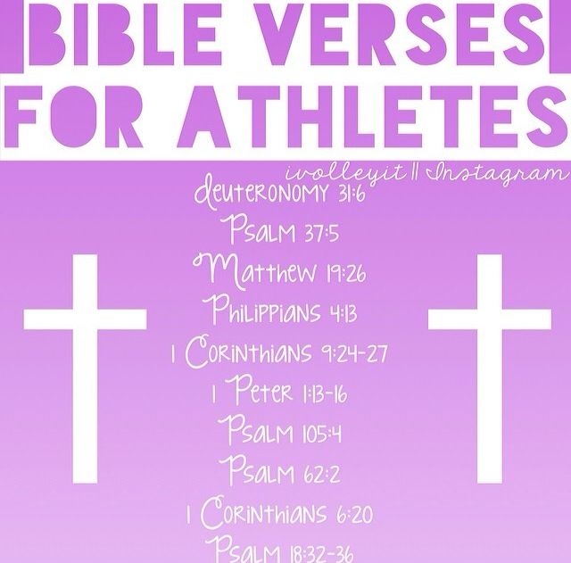 Bible verses for athletes | Sports | Athlete quotes, Bible verses