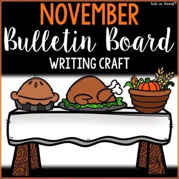 November Writing Crafts and Bulletin Display Kit #octoberbulletinboards