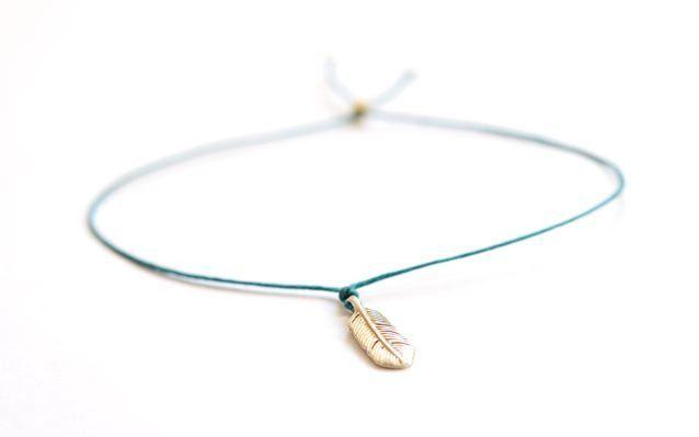 Cutest feather charm bracelet - wish bracelet