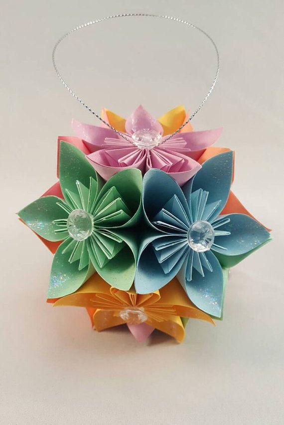Origami flower kusudama favorite etsy items pinterest origami origami flower kusudama mightylinksfo