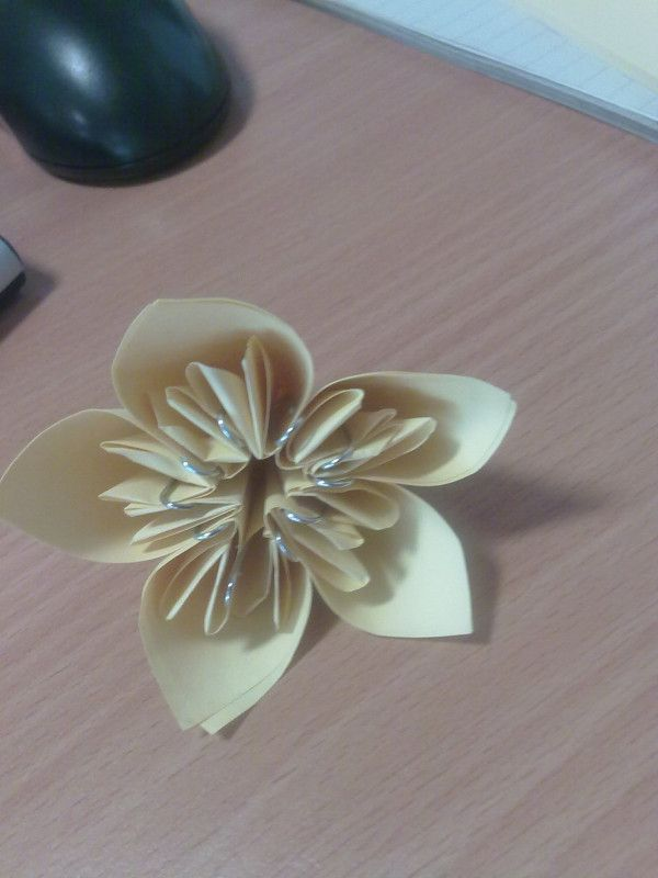 had a go with some post its with paper flowers!