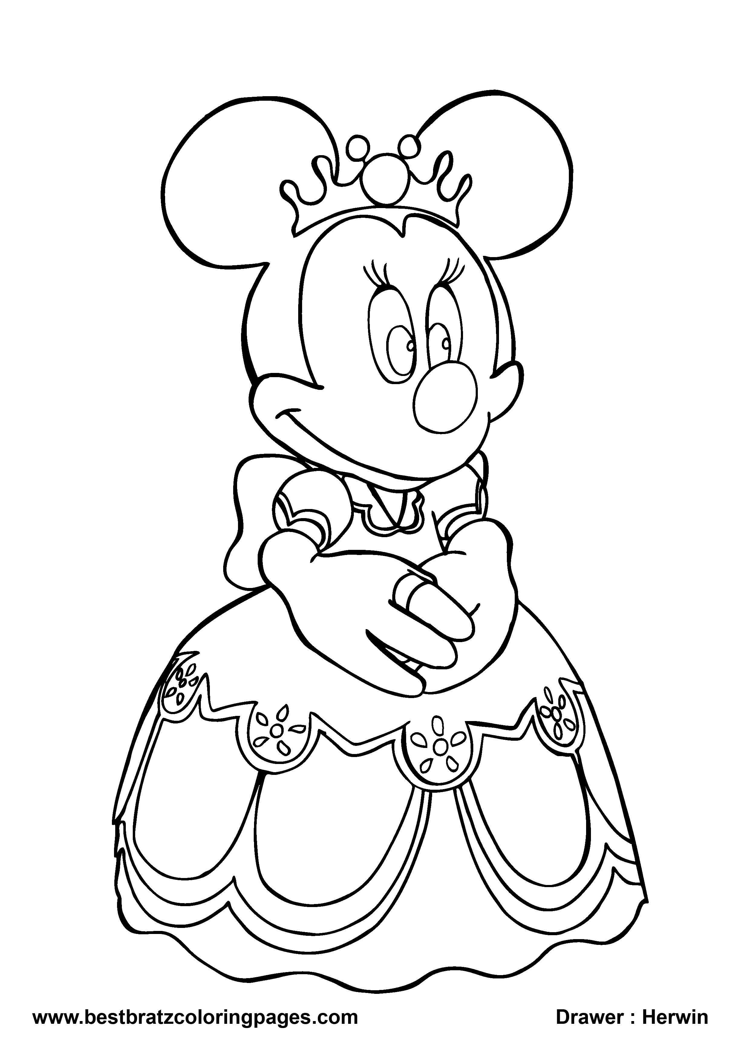 free minnie mouse printables minnie mouse coloring pages for girls best free coloring pages - Minnie Mouse Coloring Pages
