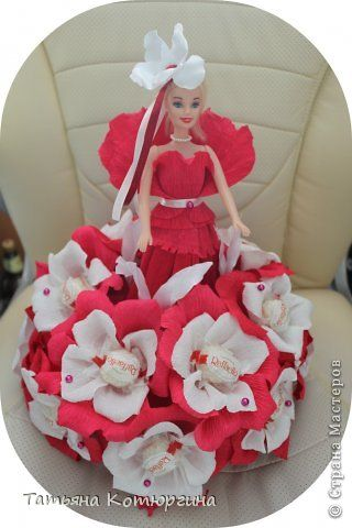 Кукла из конфет Раффаэлло