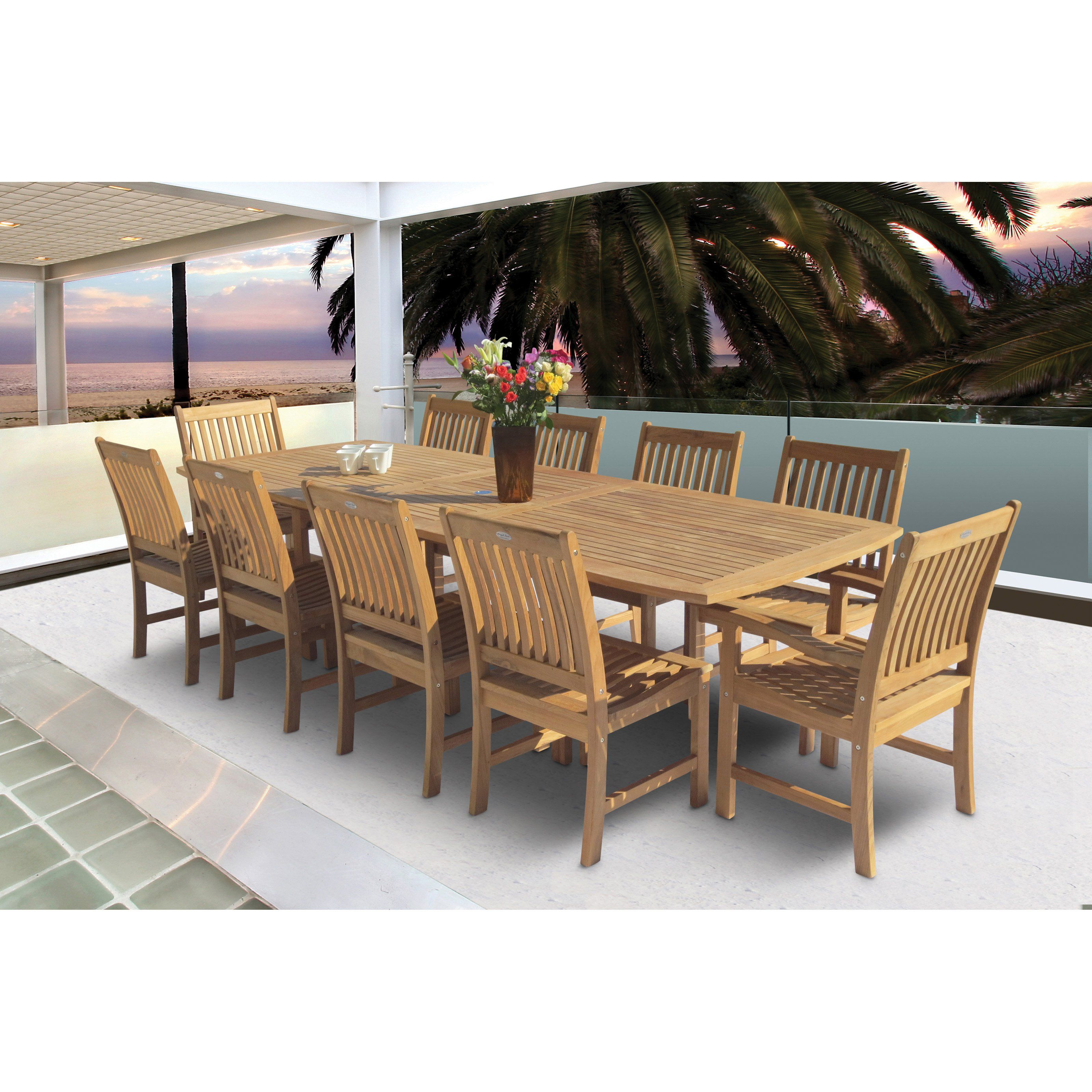 Family Rectangle Extension Compass Patio Dining Set   Seats 10   To Figure  Out What Pirates And Patinas Have In Common, Look No Further Than The Royal  Teak ...