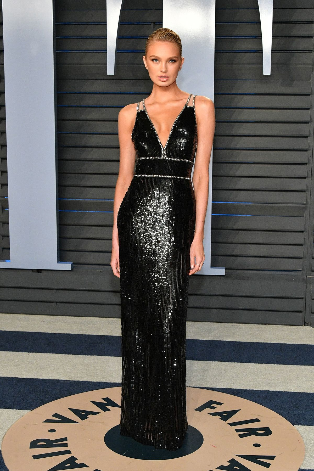 0c36b51d4d Romee Strijd attends the 2018 Vanity Fair Oscar Party in Bervely Hills.