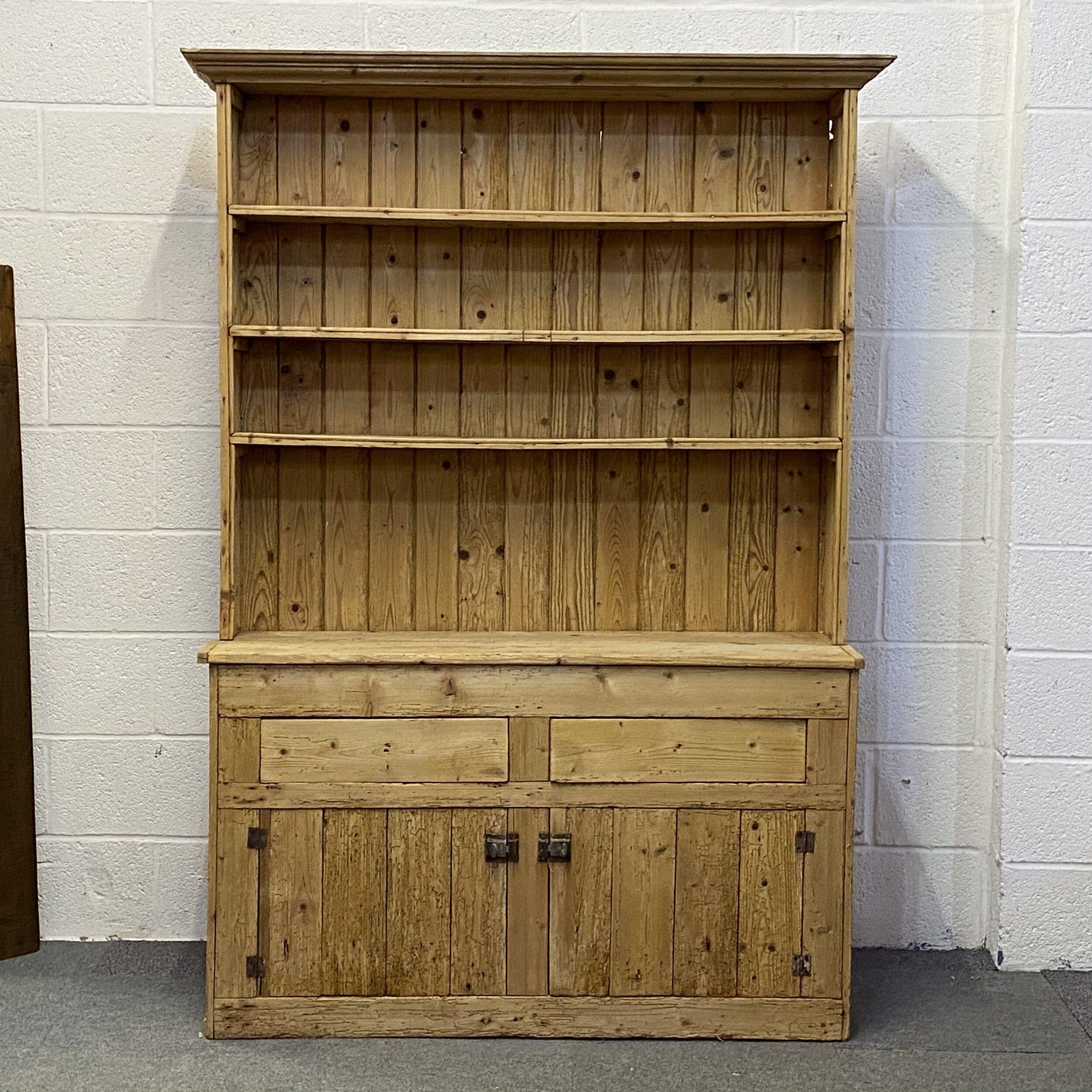 Old Irish Pine Rustic Farmhouse Dresser (E4200D 2020 장식장