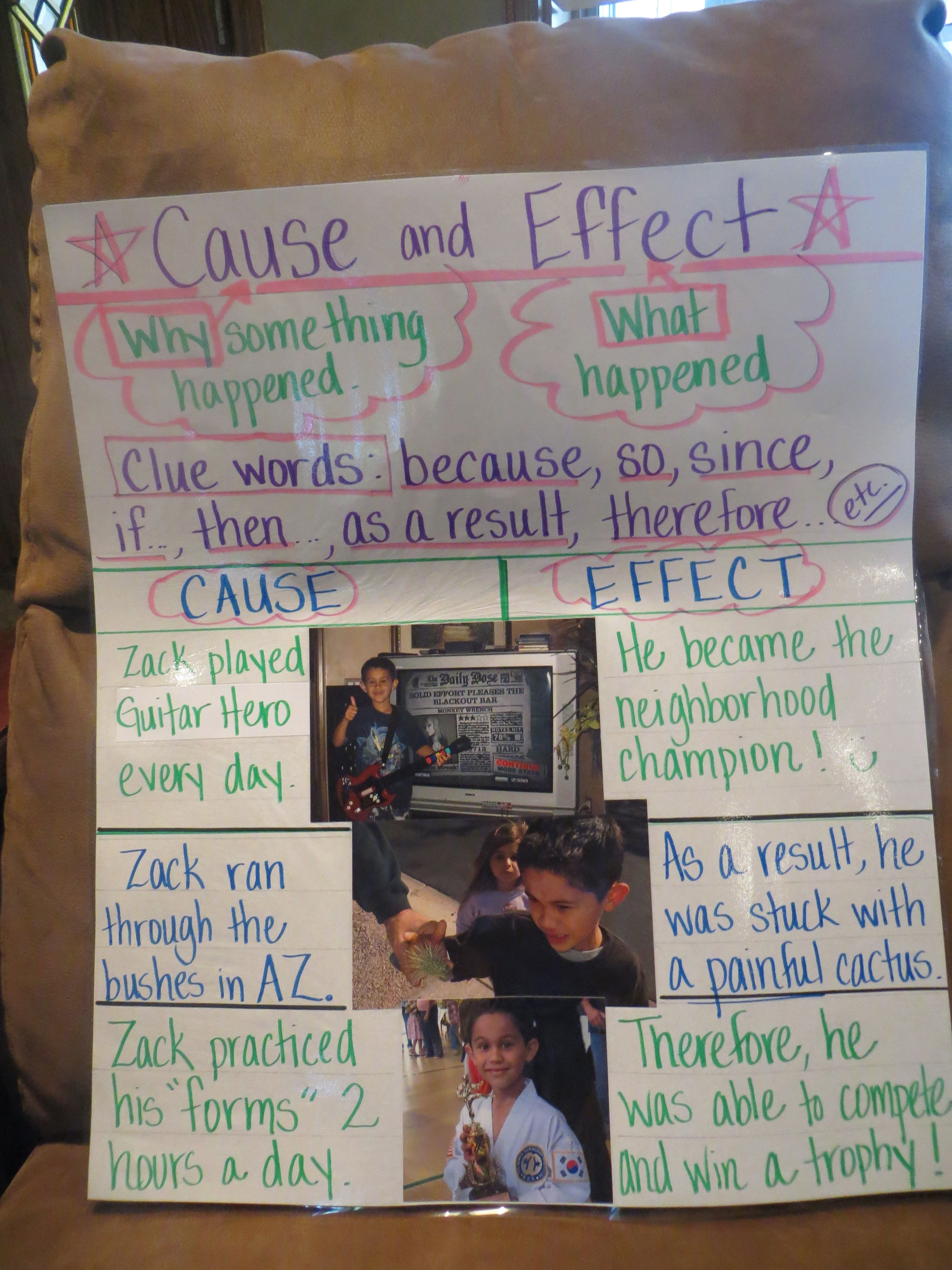 Cause And Effect Grade 2