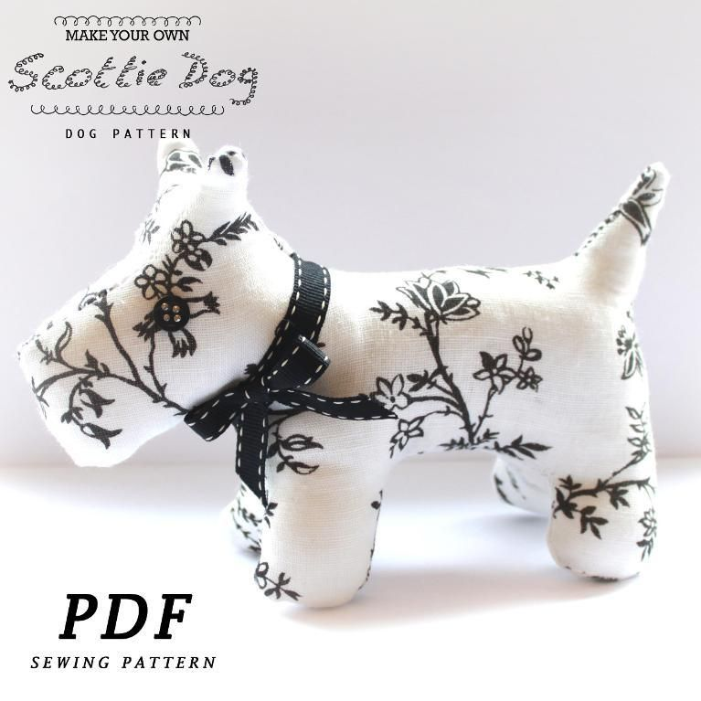 9) Name: \'Sewing : Scottie Dog Plushie Sewing Pattern -Easy ...