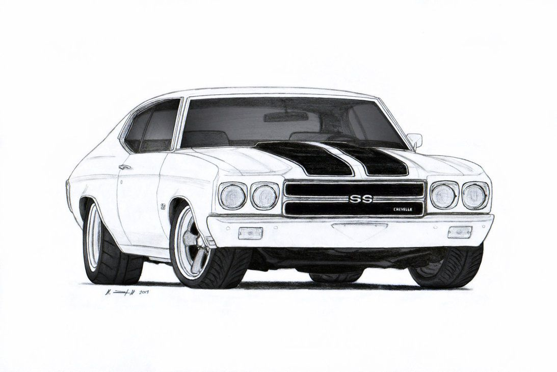 1970 chevrolet chevelle ss pro touring drawing by vertualissimo on deviantart