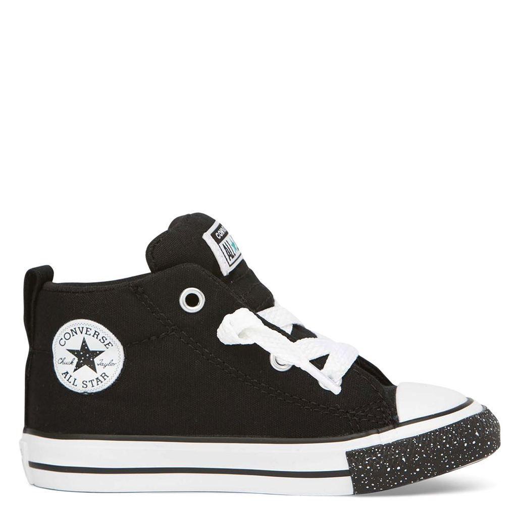 Black converse shoes. Love. stock photo ig