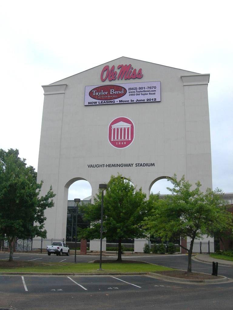 Ole Miss University Of Mississippi Rebels Football Entrance To Vaught Hemingway Stadium Ole Miss University Ole Miss Ole Miss Rebels