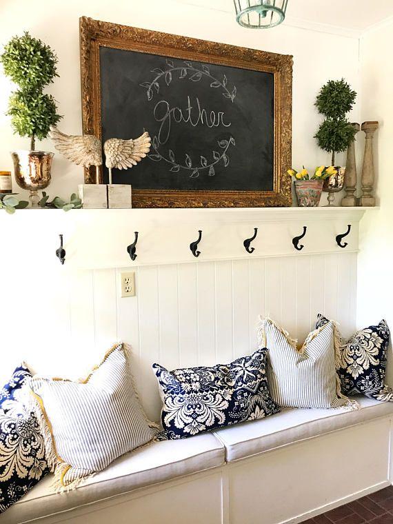 Large Detailed Chalkboard Gold Framed Black Board Ornate ...
