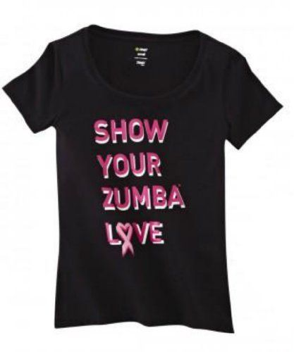 Show your Zumba love by supporting breast cancer research and awareness with the Show Your Love Crew Neck.