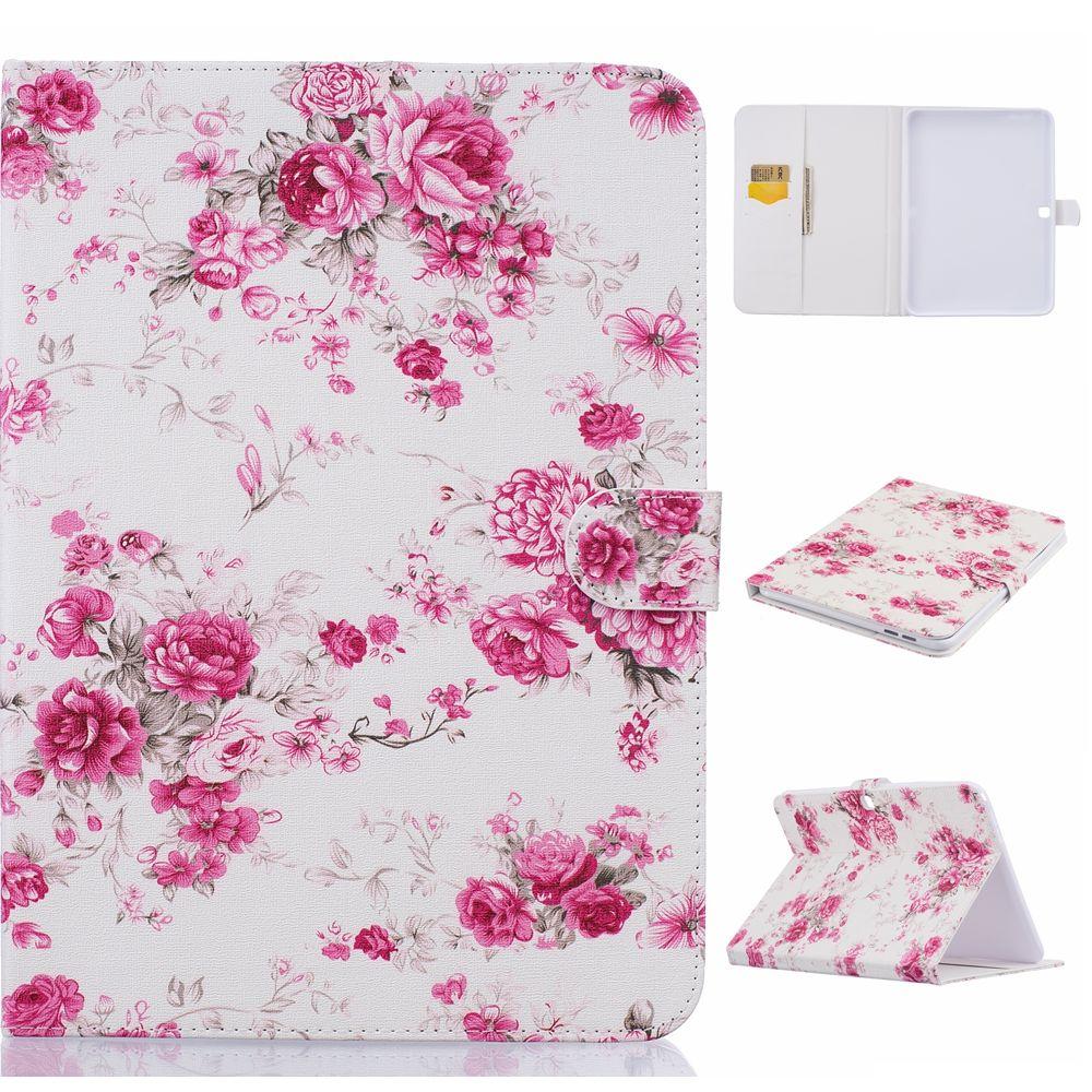 62249de1ea2 For Funda Tablet Samsung Galaxy Tab 4 10.1 Case T530 T531 Luxury Printing  Pattern Folio Stand