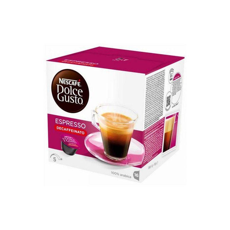 Coffee Capsules Nescafe Dolce Gusto 60658 Espresso Decaffeinato 16 Uds In 2020 Dolce Gusto Nescafe Coffee Capsules