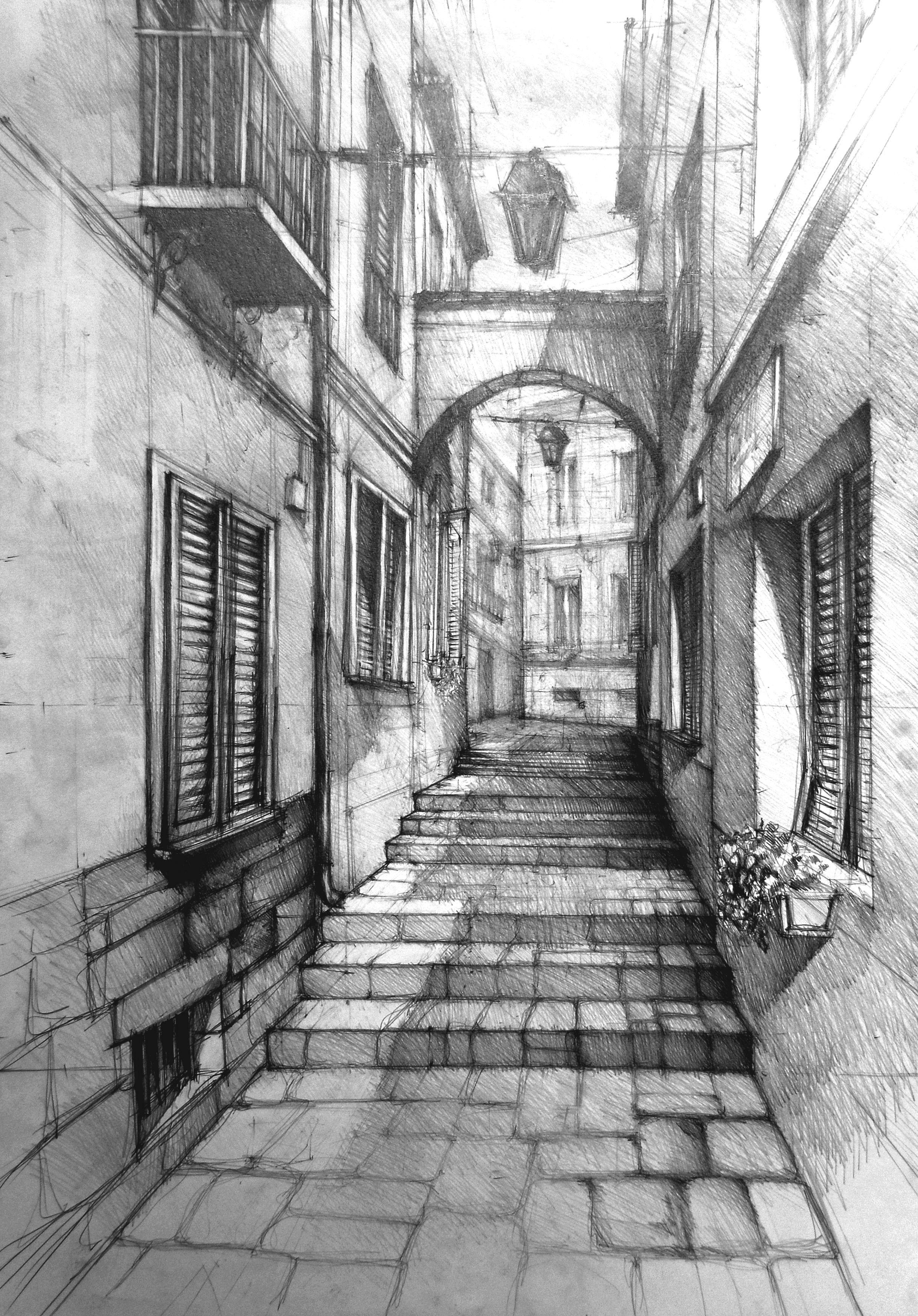 Dessiner Un Paysage En Perspective : dessiner, paysage, perspective, Www.studiorysunku.pl, Perspective, Drawing, Architecture,, Architecture
