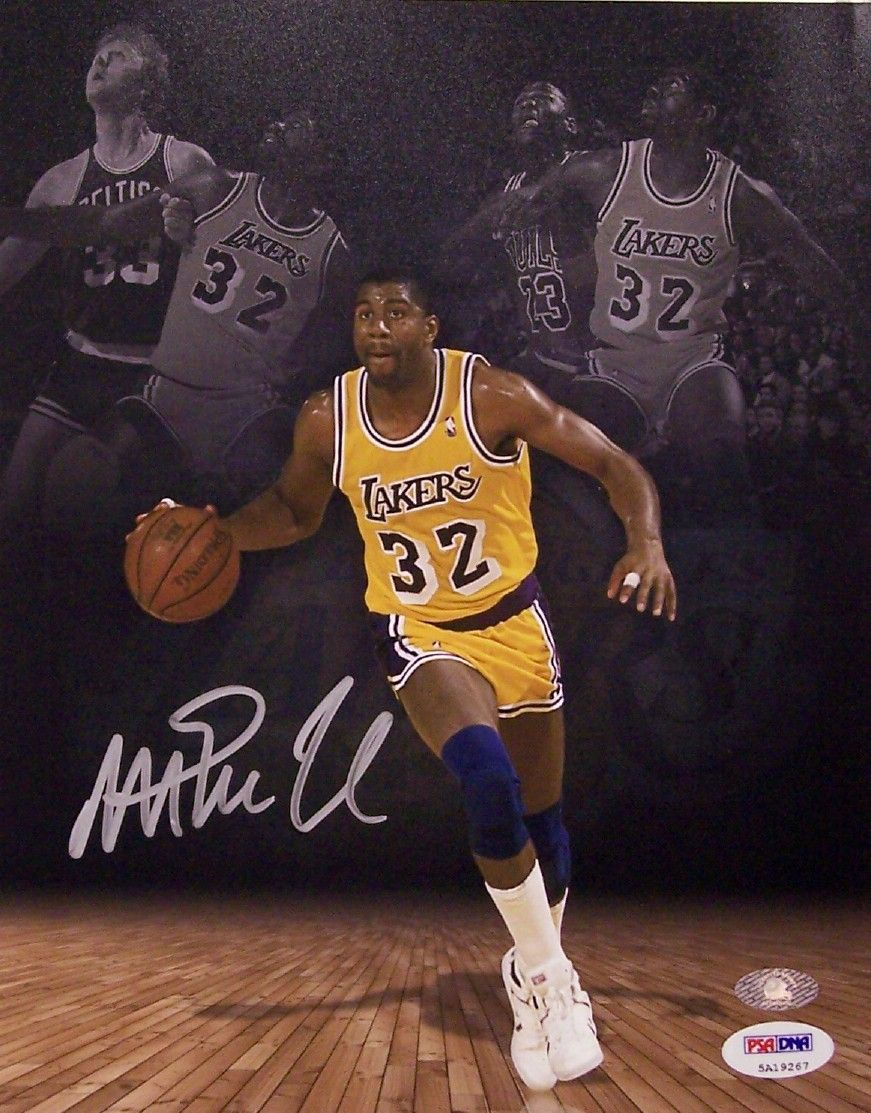 be5787690e1 Magic Johnson Autographed Hand Signed Los Angeles Lakers 8 x 10 Photo -  PSA DNA