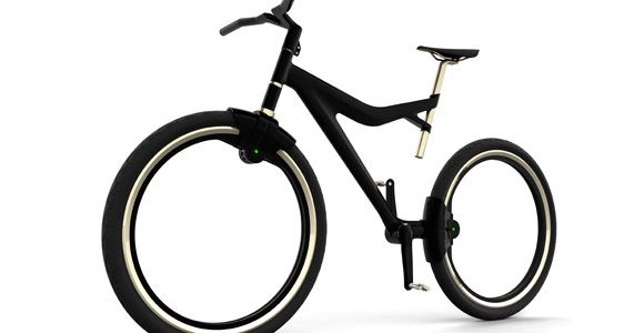 Spokeless and featherweight city bike made by the Industrial ...
