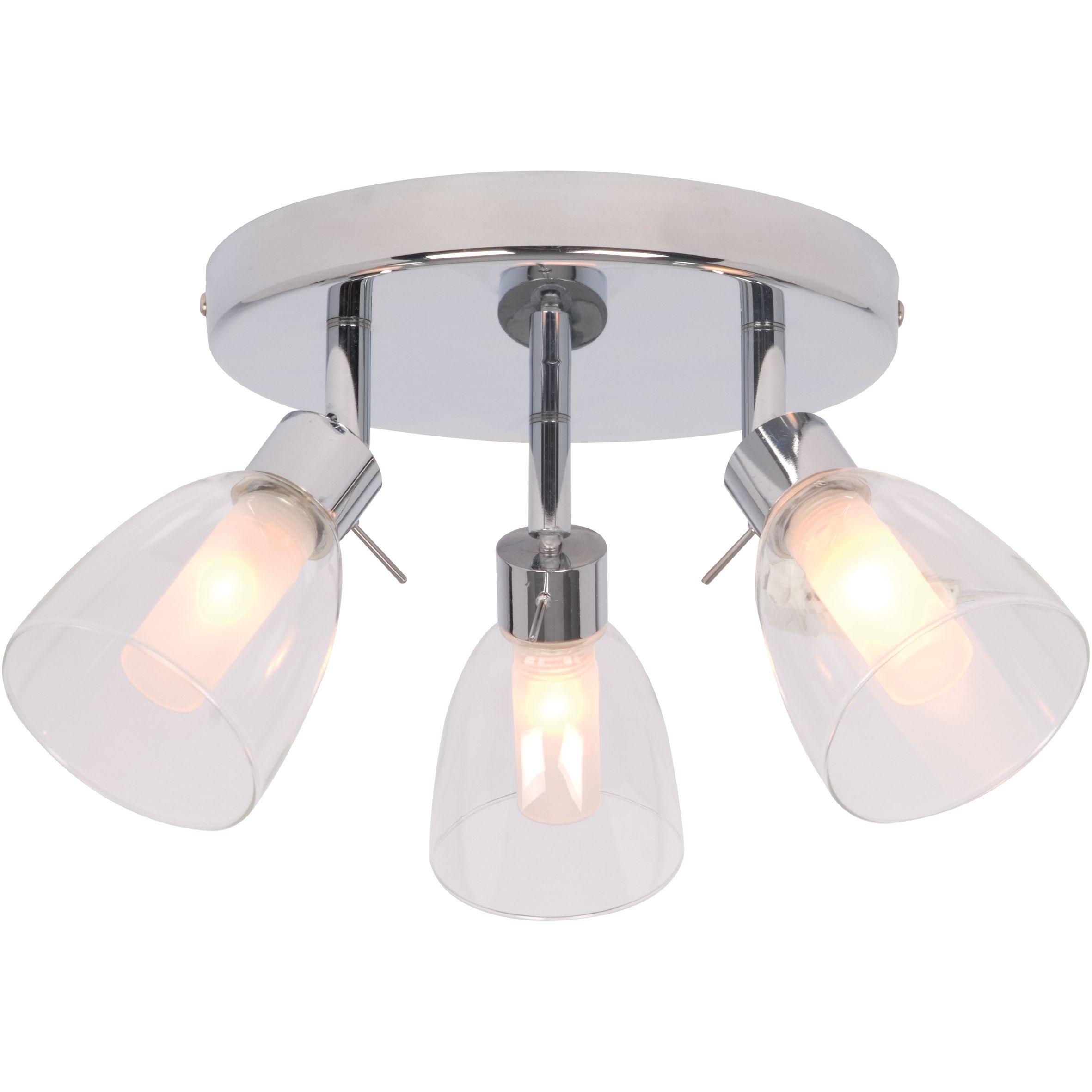 Geni Chrome-Plated 3 Lamp Bathroom Spotlight | Bathroom spotlights ...