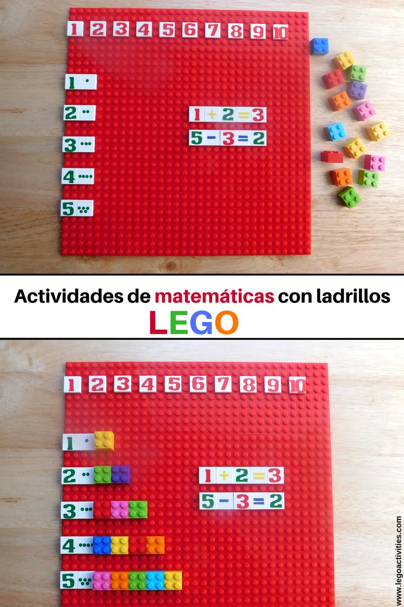Actividades de matemáticas con ladrillos LEGO