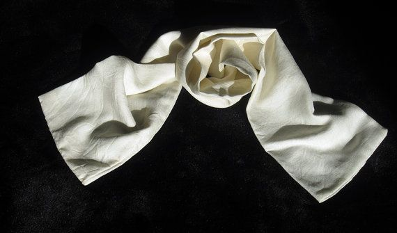 MINI SCARF Natural Peace Silk Naturally Harvested by LeBeauCou