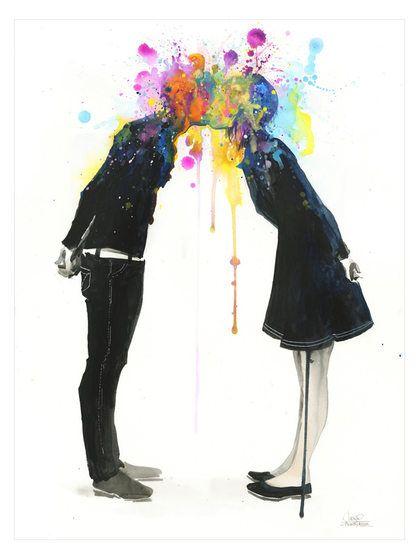 Big Bang Kiss by Lora Zombie by Eyes on Walls at Gilt