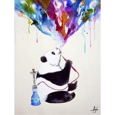 JaxsonRea ''Chai'' by Marc Allante Painting Print on Wrapped Canvas Size: