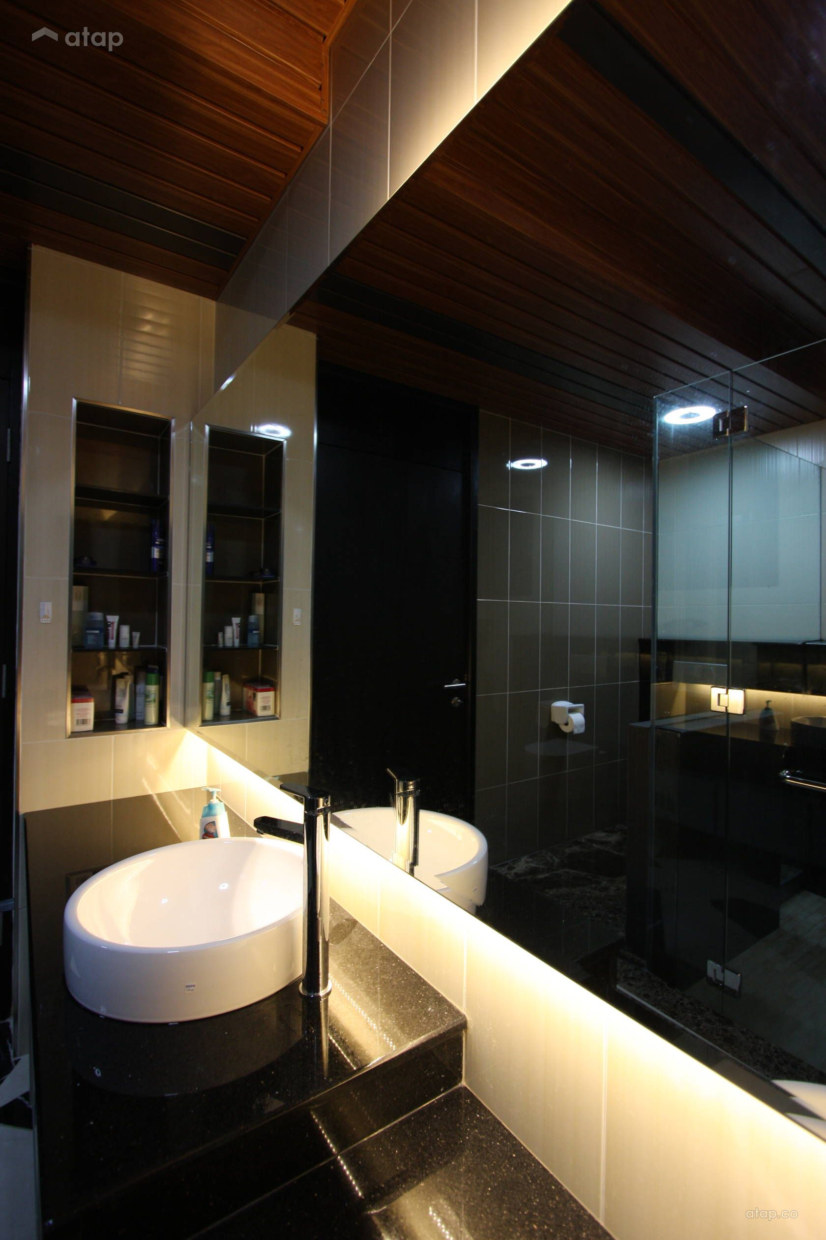 Modern Bathroom Semi Detached Design Ideas Photos Malaysia Atap Co Brown Bathroom Modern Bathroom Tan Bathroom