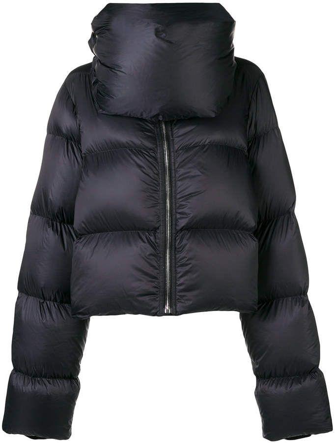 47a6b4ce5 Rick Owens asymmetric padded jacket | LADY COATS | Padded jacket ...