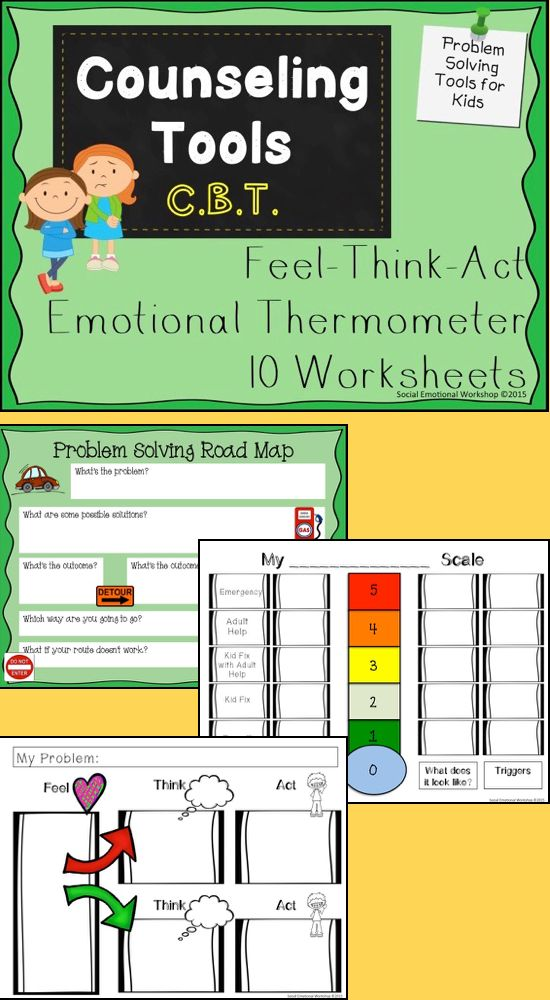 Cbt Worksheets Feelings Thermometers And Thought Maps Cbt