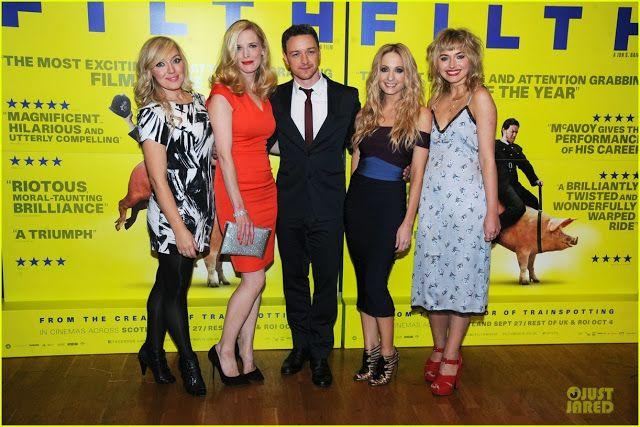 "Celeb Diary: James McAvoy la premiera ""Filth"" in Londra"