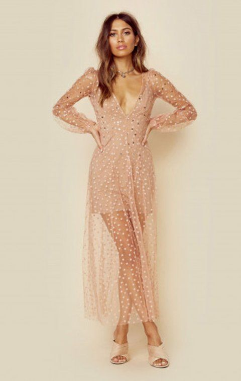 All That Glitters Maxi Dress | For Love and Lemons | Planet Blue