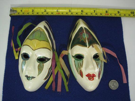 Porcelain Masks Decoration Beauteous Pair Of Vintage Japanese Hand Painted Porcelain Face Mask Wall Inspiration