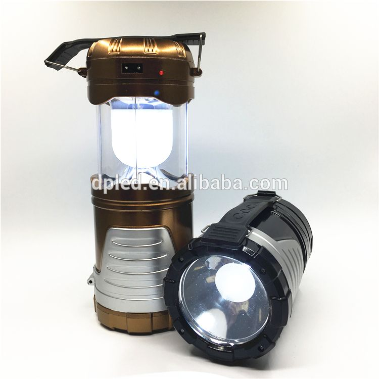 Solar Led Rechargeable Camping Lantern With Torch Light7088