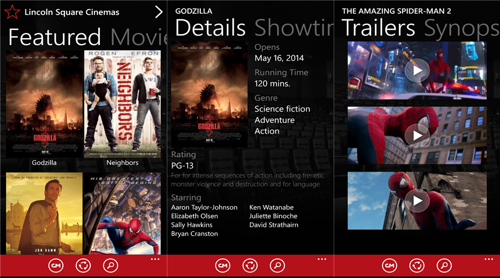 Cinemark has launched Windows Phone Apps Windows Phone 8