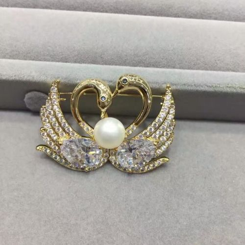 freshwater pearl swan brooch,(03030), #pearl  #swan #brooch #jewelry