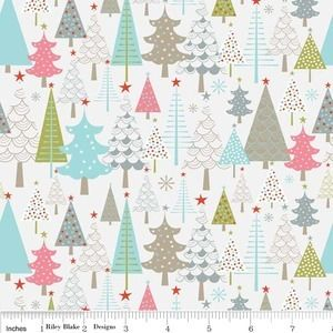 Zoe Pearn Merry Trees in Cream