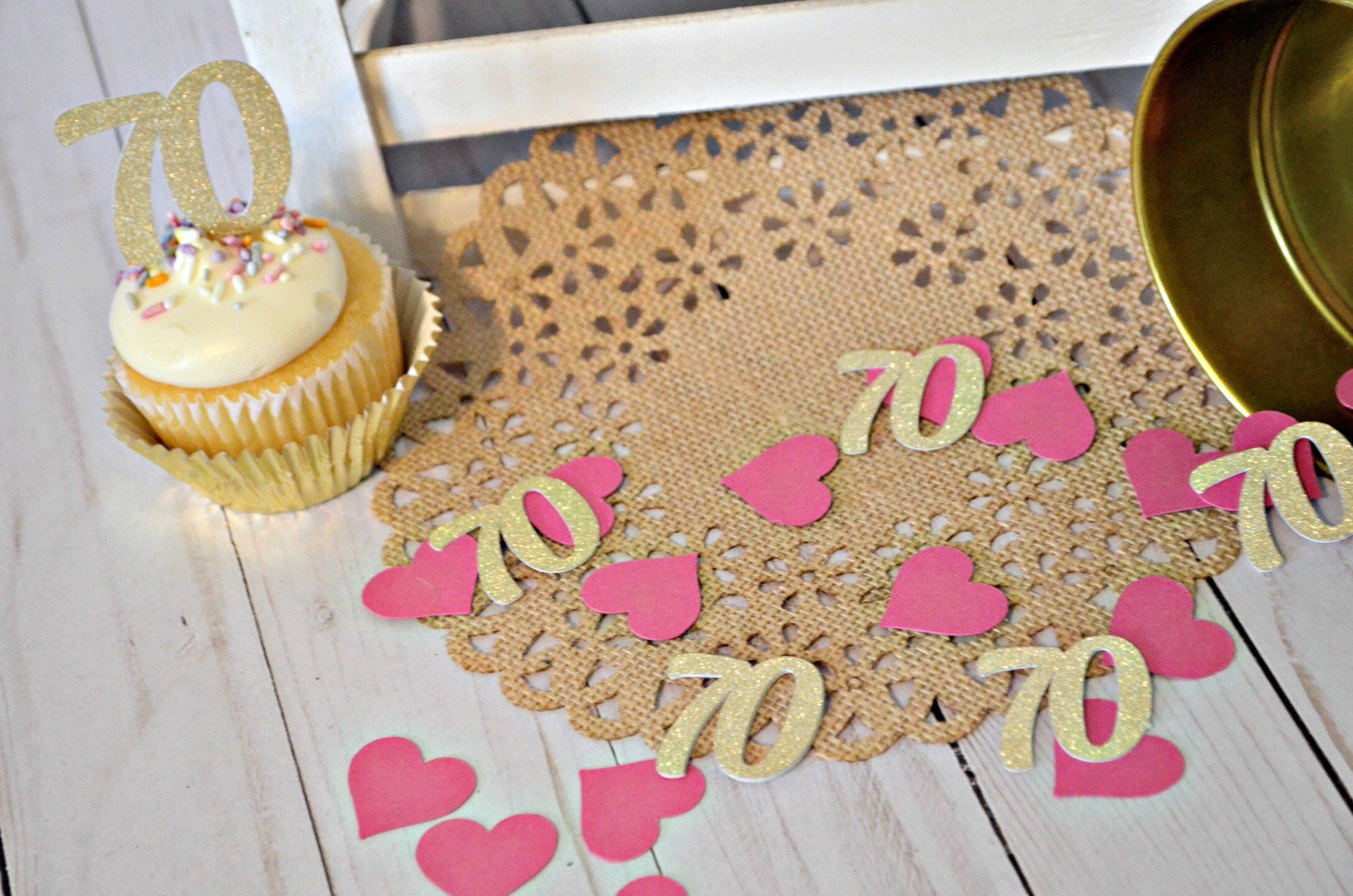 70th birthday confetti 70 70 confetti seventy 70th