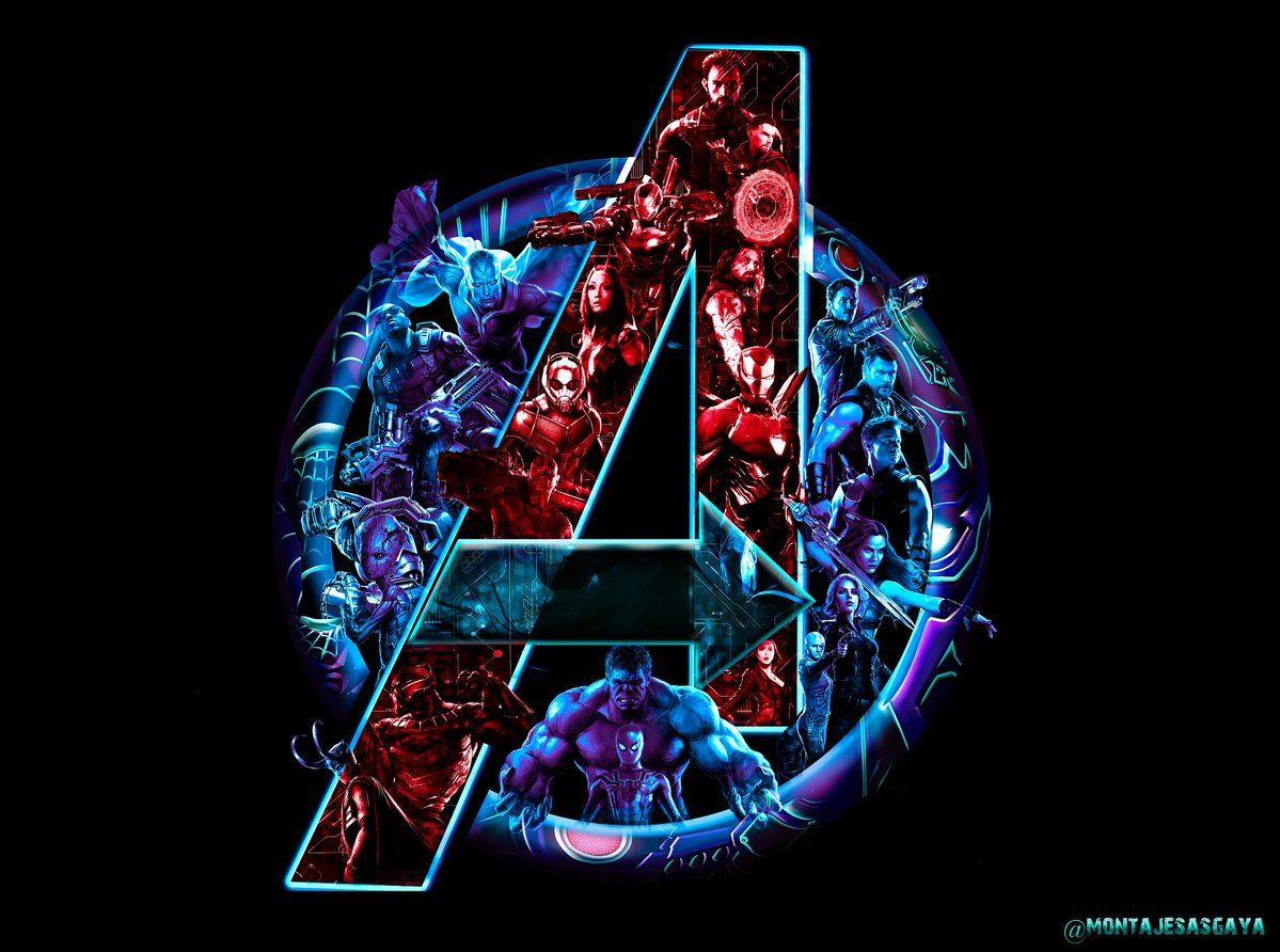 Avengers Infinity War Logo Wallpapers Avengers Wallpaper Marvel Wallpaper Marvel Art