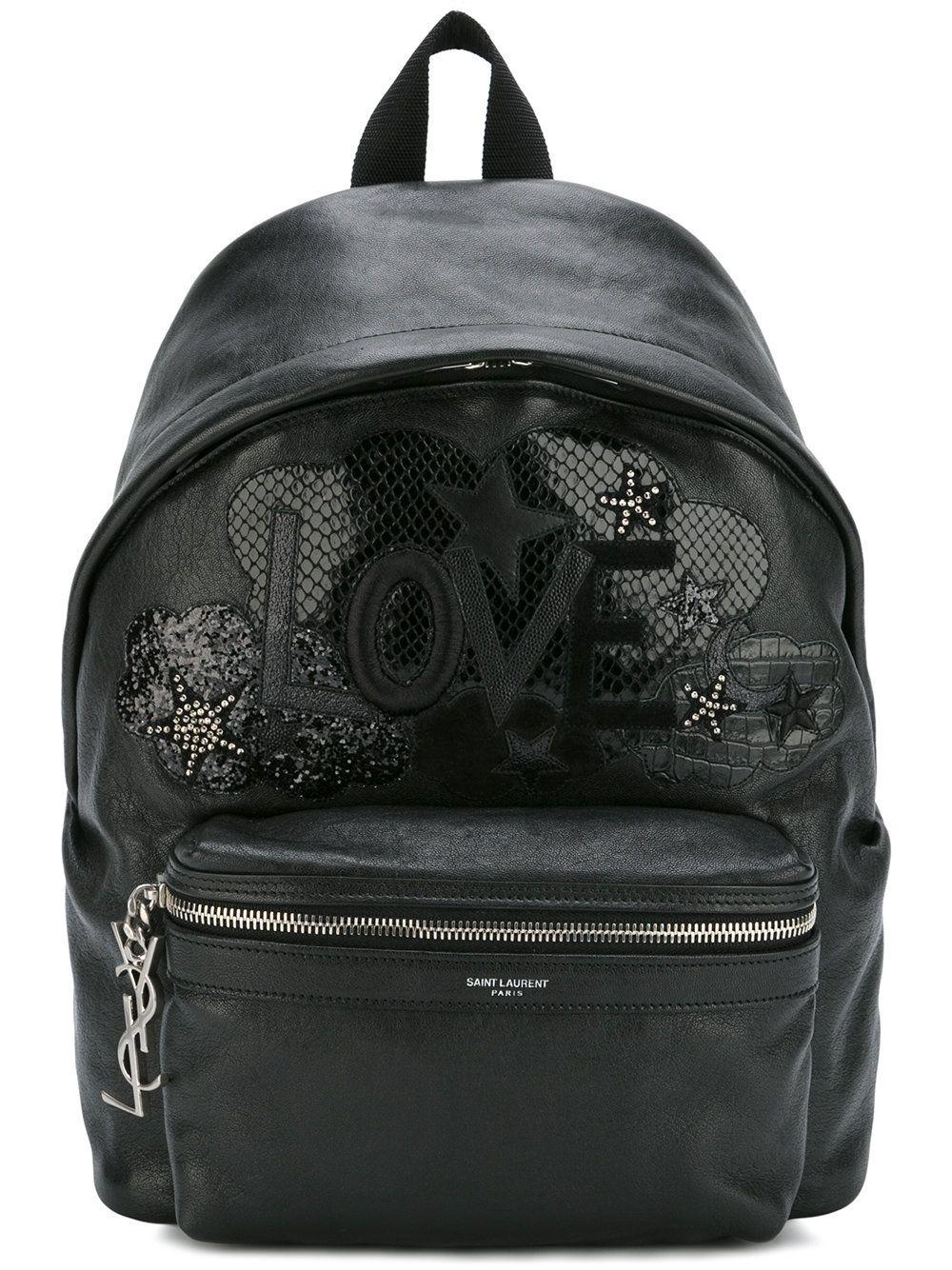 Mochila de Mulher Saint Laurent Mini City Sequin Backpack