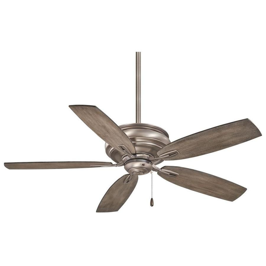 Minka Aire Timeless 54 In Nickel Indoor Ceiling Fan 5 Blade F614